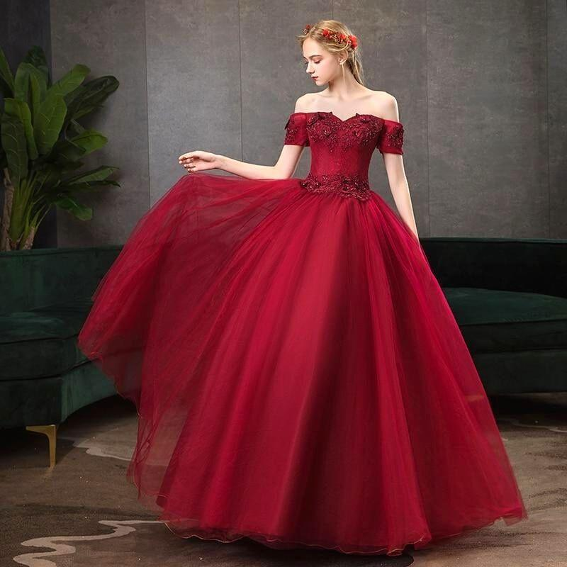 Robe Princesse Rouge Bordeaux