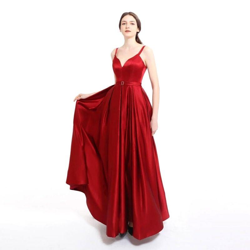 Robe-Satin-Rouge-de-Soiree_
