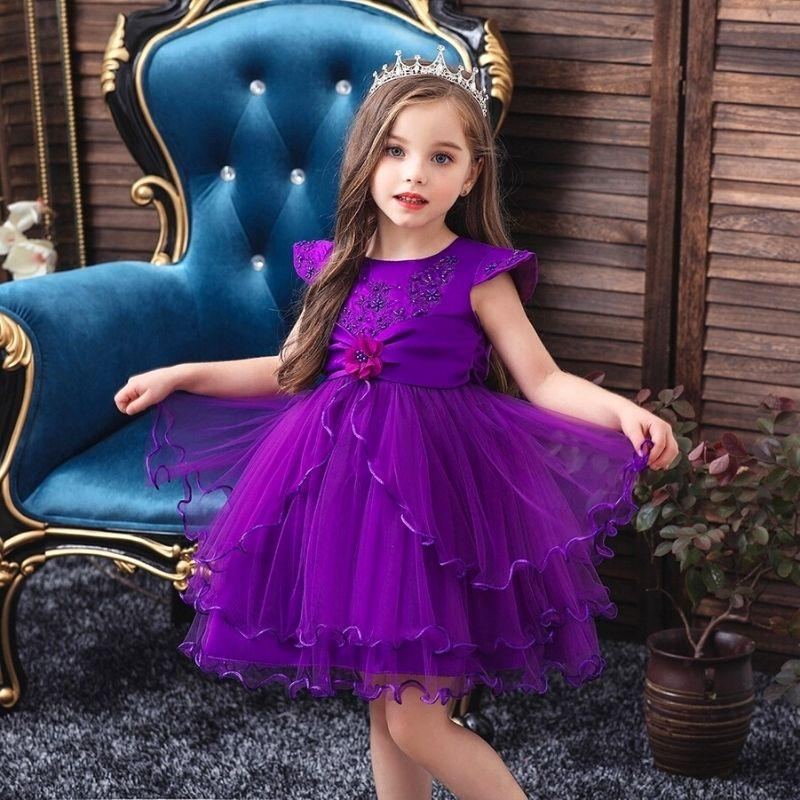 Robe Princesse Fille Pourpre