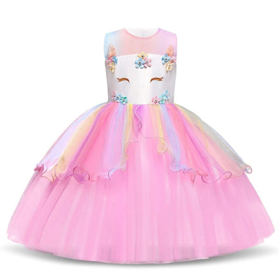Robe Princesse Licorne Rose