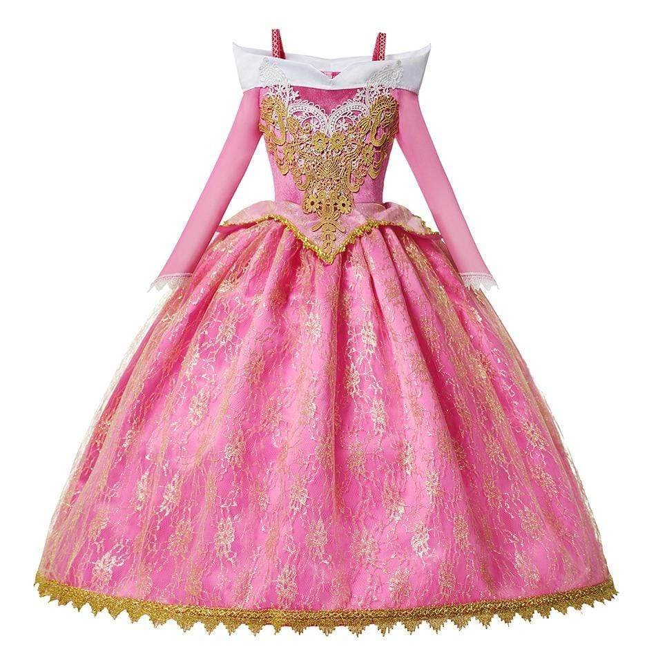 Robe Princesse Fille Rose Royale