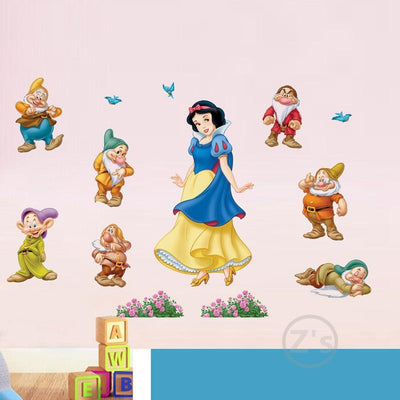 stickers blanche neige 7 nains