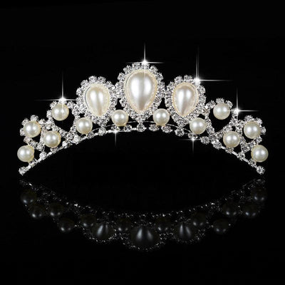 Couronne Princesse Perles Blanches