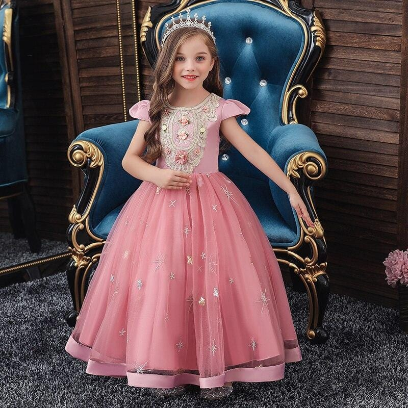 Robe Princesse Rose Fille