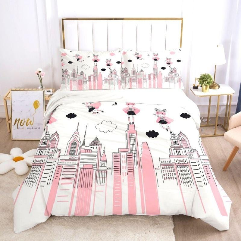 housse de couette simple fille