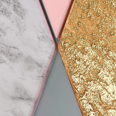 papier peint rose gold et or