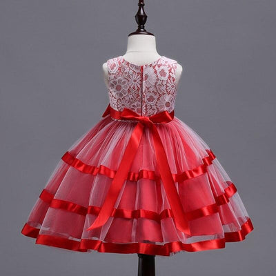 Robe Princesse Blanche et Rouge fille