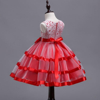 Robe Princesse fille Blanche et Rouge
