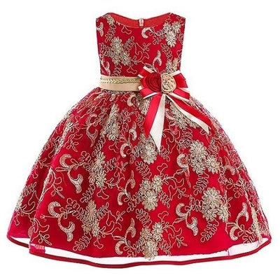 Robe Princesse Mariage Rouge et Or