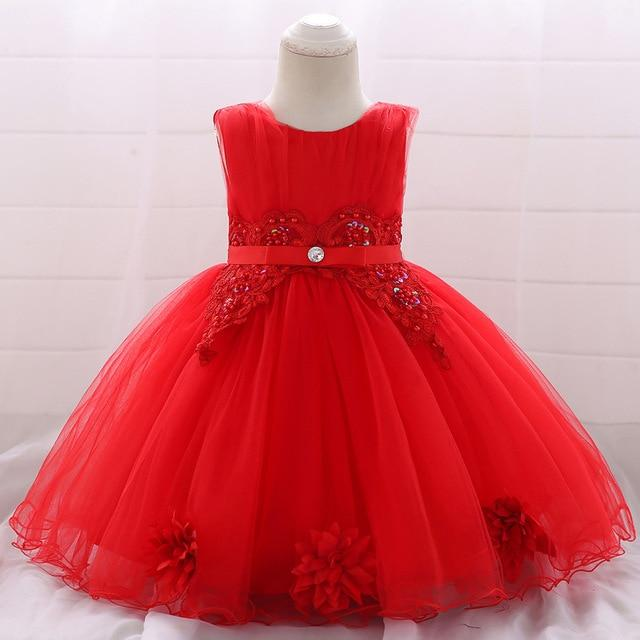Robe Princesse Bébé Lotus Rouge
