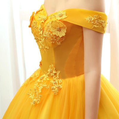Robe Princesse Adulte Jaune