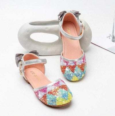 chaussure bal multicolore