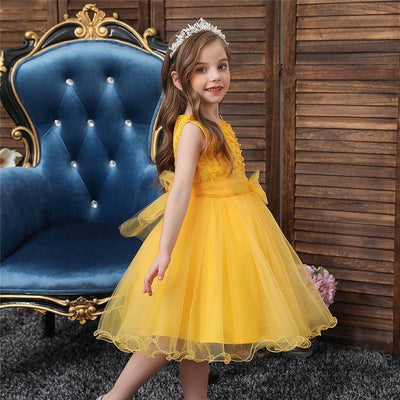 robe-ceremonie-jaune-fille