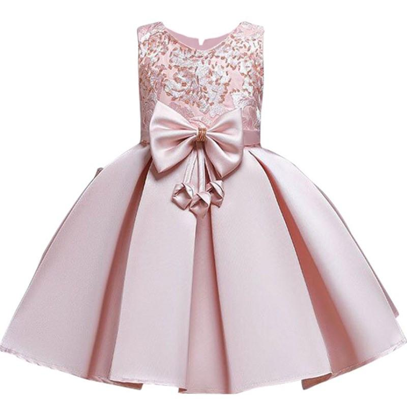 Robe Princesse Fille en Satin