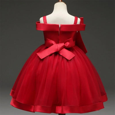 robe mariage petite fille rouge