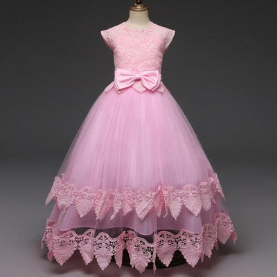 Robe Princesse Fille Rose & Noeud