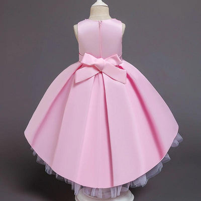 robe mi longue rose fillettte