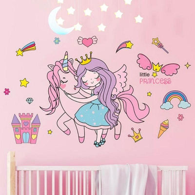 stickers-princesse-et-licorne