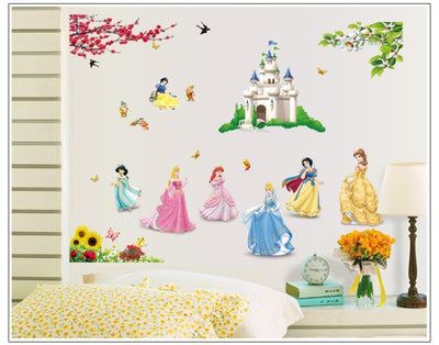 stickers muraux princesse disney