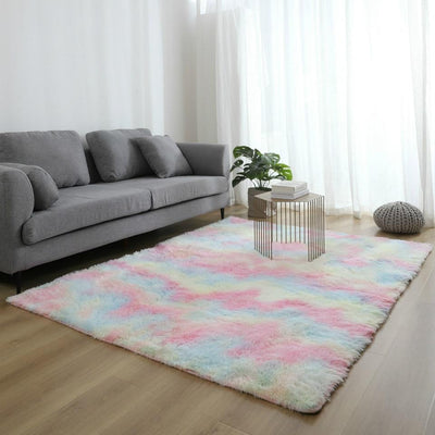 tapis rectangulaire multicolore