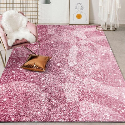 tapis rose brillant