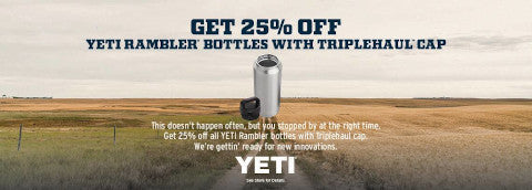 Yeti Rambler Bottle Clearance Banner