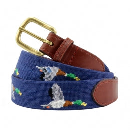 Smathers and Branson Mallard (Classic Navy) Needlepoint Belt