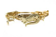 Load image into Gallery viewer, Bourbon and Boweties Gator Bangle Gold /Gold