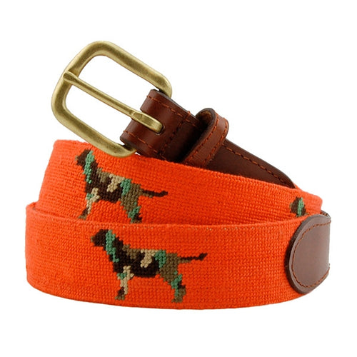 Smathers and Branson Camo Retriever Needlepoint Belt 1