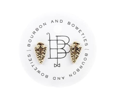 Bourbon and Boweties Arrowhead Stud Gold