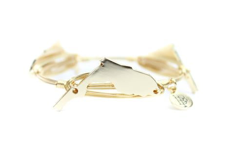 Bourbon and Boweties Florida Bangle Gold