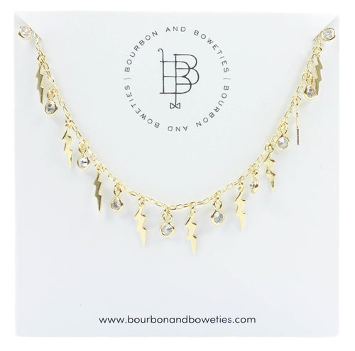 Bourbon and Boweties Lightning Chain Necklace