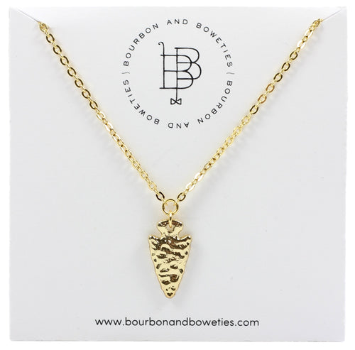 Bourbon and Boweties Arrowhead Necklace