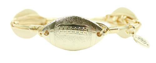Bourbon and Boweties Black Coin Knight Bangle Gold Football Bangle