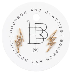 Bourbon and Boweties Lightning Stud Earrings
