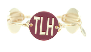 Bourbon and Boweties TLH Bangle Tallahassee Garnet/Gold