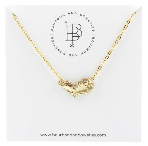 Bourbona nd Boweties Gator Necklace