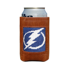Load image into Gallery viewer, Smathers and Branson Tampa Bay Lightning Needlepoint Can Cooler 1