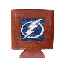 Load image into Gallery viewer, Smathers and Branson Tampa Bay Lightning Needlepoint Can Cooler 2