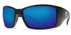 Costa Sunglasses Blackfin Matte Black/Blue Mirror 5