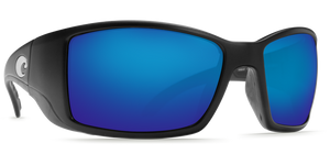 Costa Sunglasses Blackfin Matte Black/Blue Mirror 1