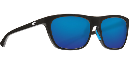 Costa Sunglasses Cheeca Shiny Black/Blue Mirror 1
