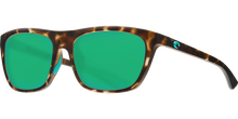 Load image into Gallery viewer, Costa Sunglasses Cheeca Matte Shadow Tortoise/Green Mirror 3