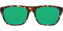 Load image into Gallery viewer, Costa Sunglasses Cheeca Matte Shadow Tortoise/Green Mirror 5