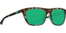 Load image into Gallery viewer, Costa Sunglasses Cheeca Matte Shadow Tortoise/Green Mirror 1