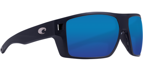 Costa Diego Sunglasses Matte Black/Blue Mirror 1
