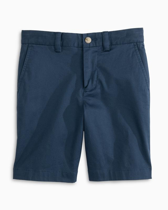 Southern Tide Channel Marker Youth Shorts Dark Denim 1