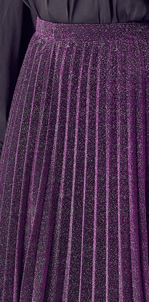 Purple Metallic Skirt