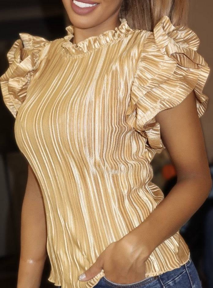 Pleated Gold Top