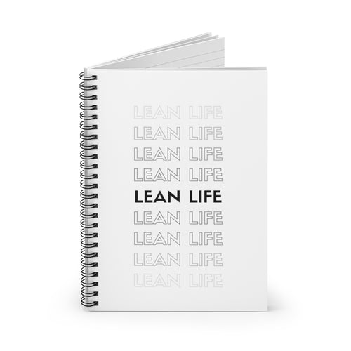 Lean life notebook